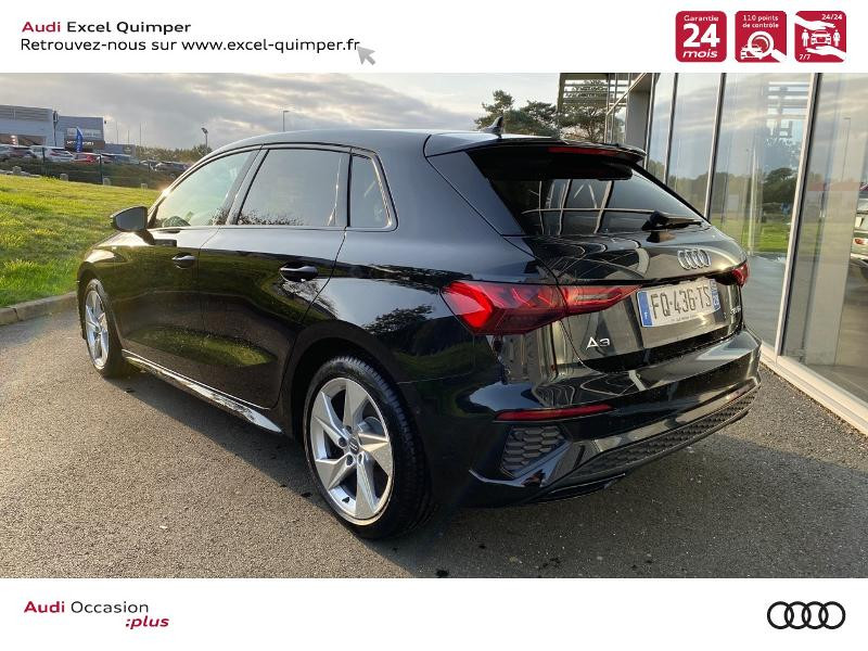 Photo 4 de l'offre de AUDI A3 Sportback 35 TDI 150ch S line S tronic 7 à 43690€ chez Excel automobiles - Audi Quimper
