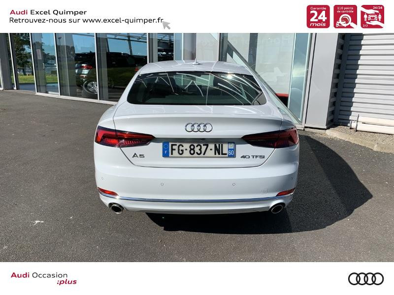 Photo 5 de l'offre de AUDI A5 Sportback 40 TFSI 190ch Design Luxe S tronic 7 Euro6d-T à 38990€ chez Excel automobiles - Audi Quimper