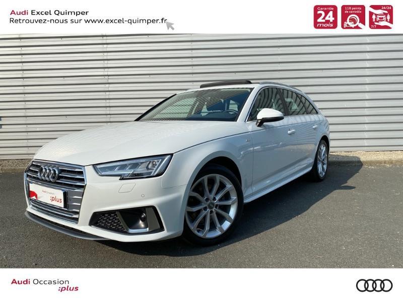 Photo 1 de l'offre de AUDI A4 Avant 35 TFSI 150ch Design Luxe S tronic 7 Euro6d-T à 36290€ chez Excel automobiles - Audi Quimper