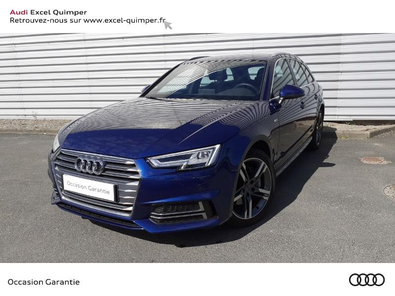 Audi A4 Avant 2.0 TDI 190ch S line S tronic 7 Diesel BLEU SCUBA Occasion à vendre