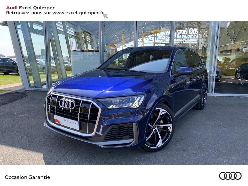 Audi Q7 50 TDI 286ch S line quattro Tiptronic 7 places Diesel BLEU NAVARRE Occasion à vendre