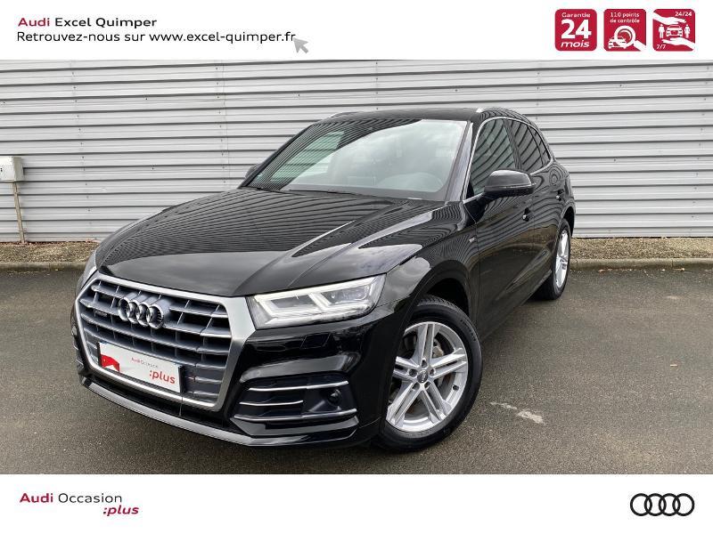 Photo 1 de l'offre de AUDI Q5 35 TDI 163ch S line quattro S tronic 7 Euro6dT à 47490€ chez Excel automobiles - Audi Quimper