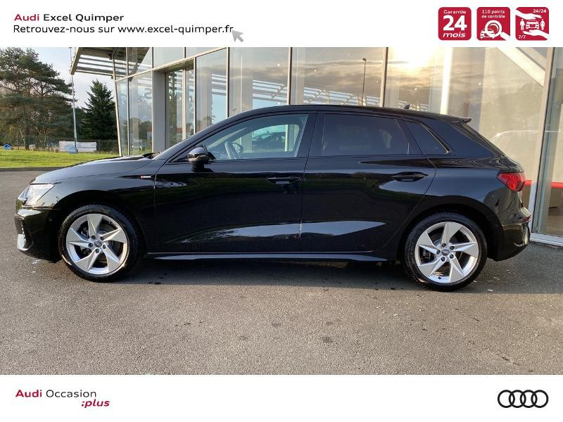 Photo 3 de l'offre de AUDI A3 Sportback 35 TDI 150ch S line S tronic 7 à 42500€ chez Excel automobiles - Audi Quimper