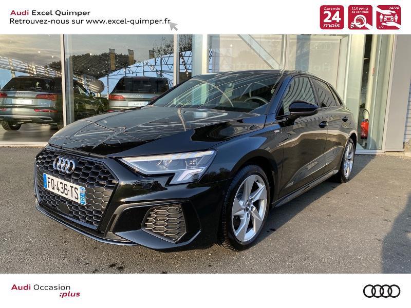Photo 1 de l'offre de AUDI A3 Sportback 35 TDI 150ch S line S tronic 7 à 42500€ chez Excel automobiles - Audi Quimper