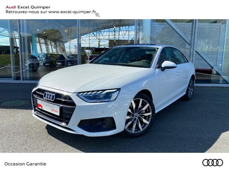 Audi A4 40 TDI 190ch Avus Stronic 7 Diesel BLANC GLACIER METAL Occasion à vendre