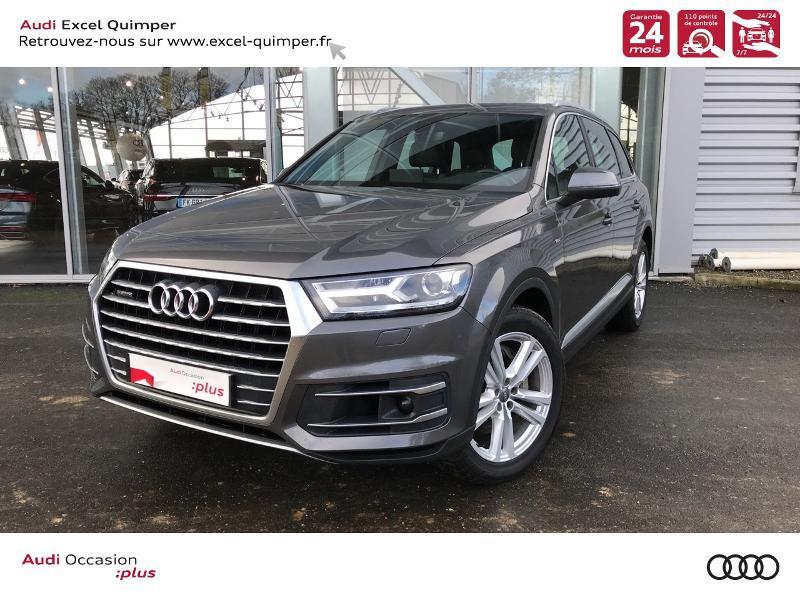 Audi Q7 50 TDI 286ch S line quattro tiptronic 7 places Diesel GRIS SAMURAI Occasion à vendre