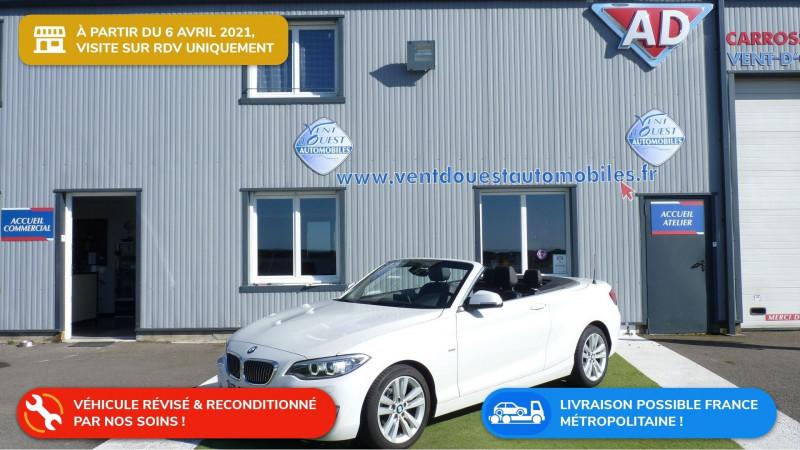 Photo 1 de l'offre de BMW SERIE 2 CABRIOLET (F23) 218DA 150CH LUXURY à 22450€ chez Vent d'ouest automobiles