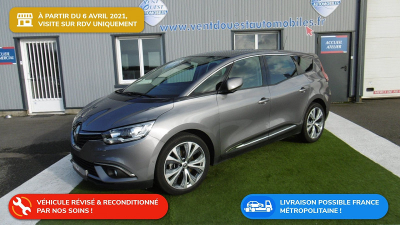 Renault GRAND SCENIC IV 1.7 BLUE DCI 120CH INTENS 7 PLACES Diesel GRIS CASSIOPEE Occasion à vendre