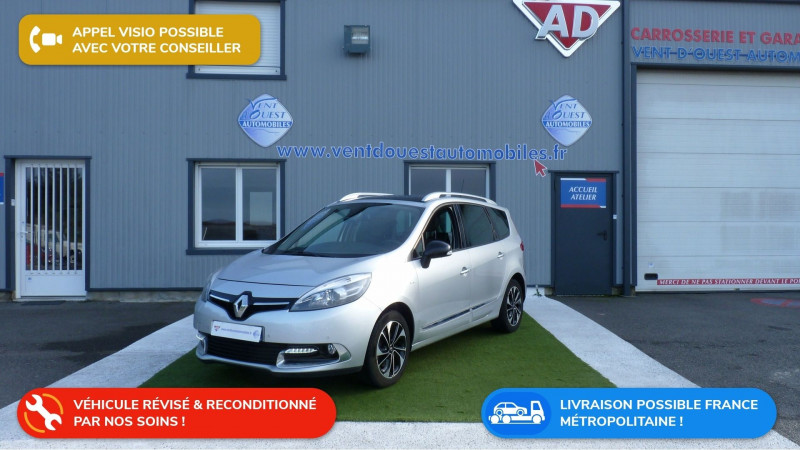 Renault GRAND SCENIC III 1.2 TCE 130CH ENERGY BOSE 7 PLACES 2015 Essence GRIS ALU Occasion à vendre