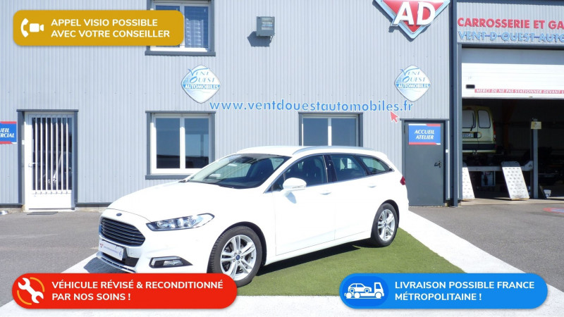Ford MONDEO SW 2.0 TDCI 150CH TITANIUM EURO6.2 Diesel BLANC Occasion à vendre