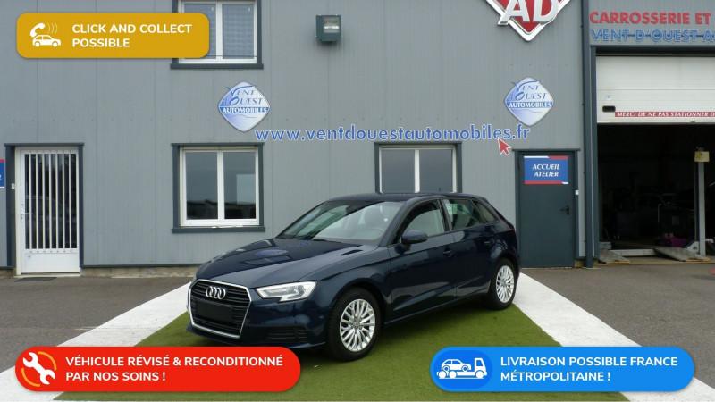 Audi A3 SPORTBACK 1.6 TDI 110CH SPORT Diesel BLEU Occasion à vendre