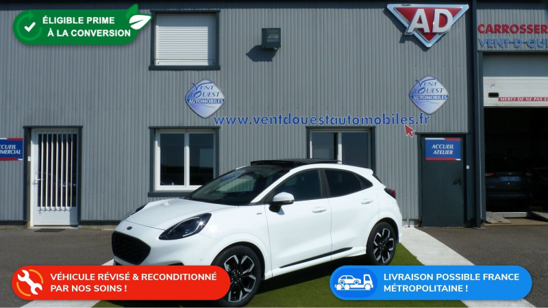 Ford PUMA 1.0 ECOBOOST 125CH MHEV ST-LINE X DCT7 Essence BLANC GLACIER Occasion à vendre