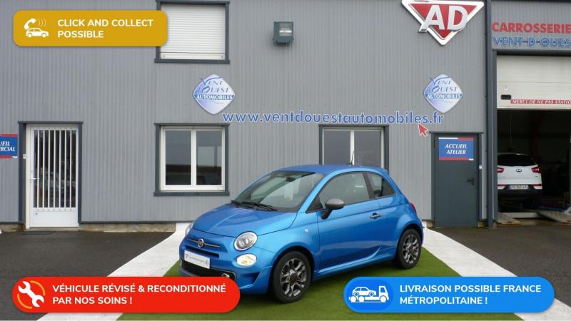 Fiat 500 1.2 8V 69CH S&S SPORT Essence BLEU METAL Occasion à vendre