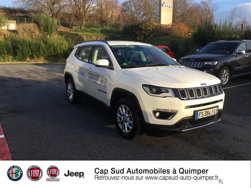 Jeep Compass 1.3 GSE T4 190ch Limited 4xe PHEV AT6 Hybride rechargeable : Essence/Electrique Alpine White Occasion à vendre