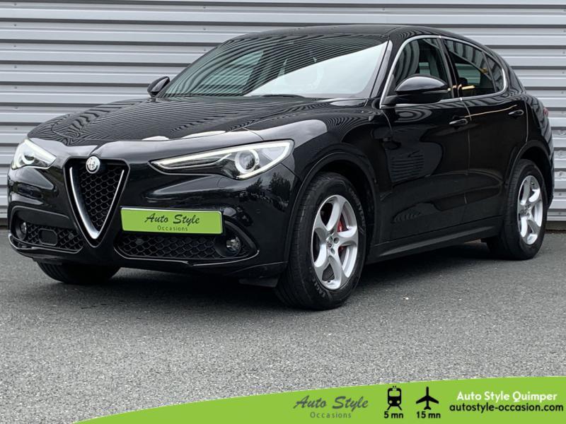 Alfa Romeo Stelvio 2.2 Diesel 180ch Super AT8 Diesel Noir Vulcano Occasion à vendre
