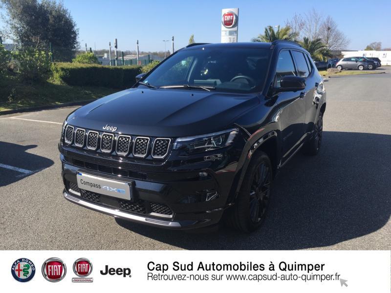 Jeep Compass 1.3 GSE T4 240ch S 4xe PHEV AT6 Hybride rechargeable : Essence/Electrique Noir Occasion à vendre