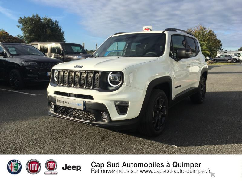 Jeep Renegade 1.3 GSE T4 190ch 4xe 80th Anniversary AT6 MY21 Hybride rechargeable : Essence/Electrique Alpine White Occasion à vendre