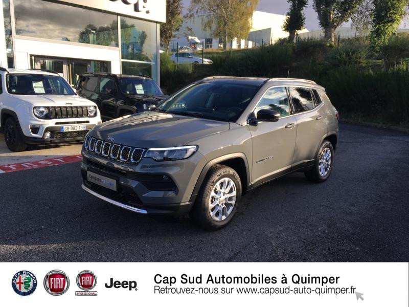 Jeep Compass 1.3 GSE T4 190ch Limited 4xe PHEV AT6 Hybride rechargeable : Essence/Electrique Sting Gray Occasion à vendre