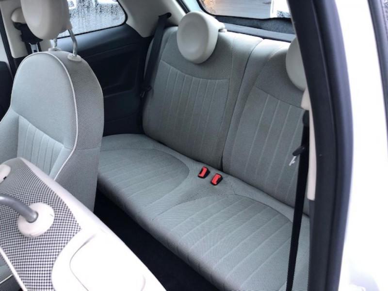 Photo 10 de l'offre de FIAT 500 1.2I69 S&S BVA LOUNGE CLIM RADAR TOITOUVRANT à 7990€ chez Triplo auto