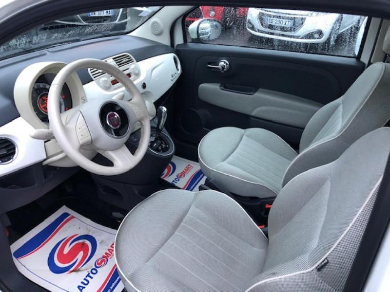 Photo 11 de l'offre de FIAT 500 1.2I69 S&S BVA LOUNGE CLIM RADAR TOITOUVRANT à 7990€ chez Triplo auto