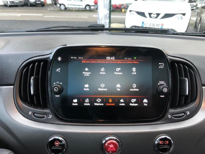 Photo 16 de l'offre de FIAT 500 S 1.2I - 69 CLIM RADAR TOIT UCONNECT à 10650€ chez Triplo auto