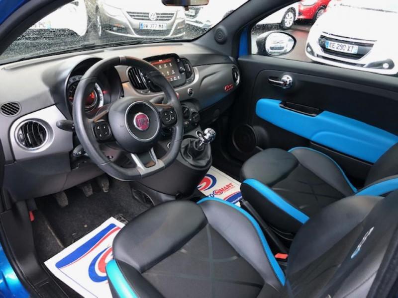 Photo 9 de l'offre de FIAT 500 S 1.2I - 69 CLIM RADAR TOIT UCONNECT à 10650€ chez Triplo auto
