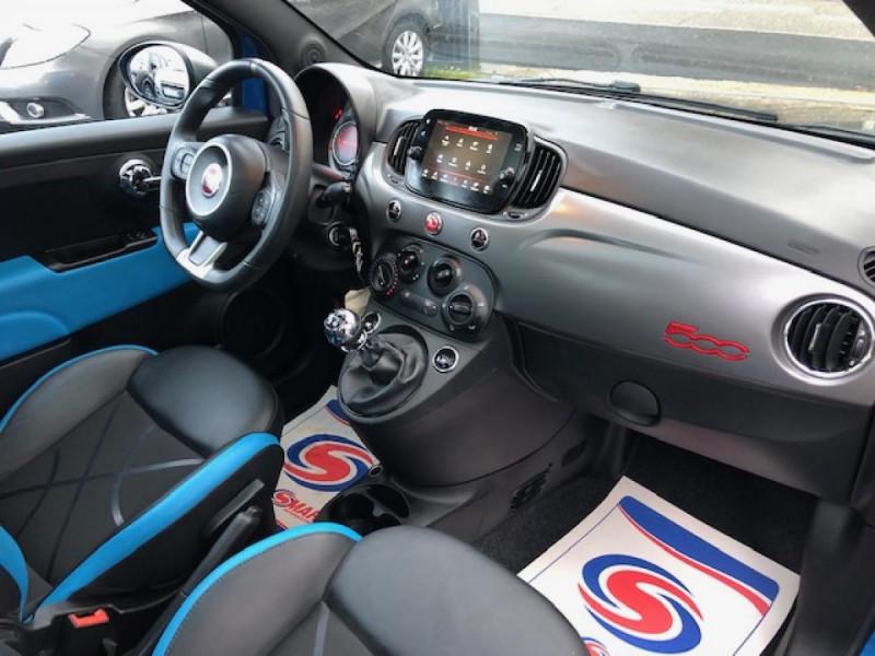 Photo 12 de l'offre de FIAT 500 S 1.2I - 69 CLIM RADAR TOIT UCONNECT à 10650€ chez Triplo auto