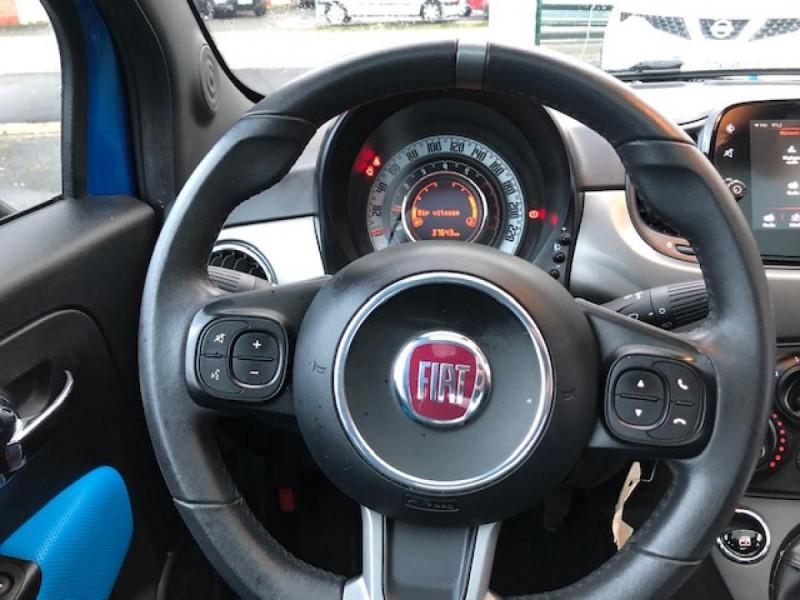 Photo 14 de l'offre de FIAT 500 S 1.2I - 69 CLIM RADAR TOIT UCONNECT à 10650€ chez Triplo auto