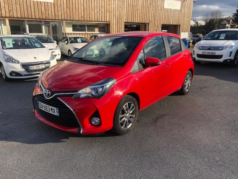 Toyota YARIS 1.3VVT-I100 LOUNGE GPS CAMERA RECUL Essence ROUGE Occasion à vendre