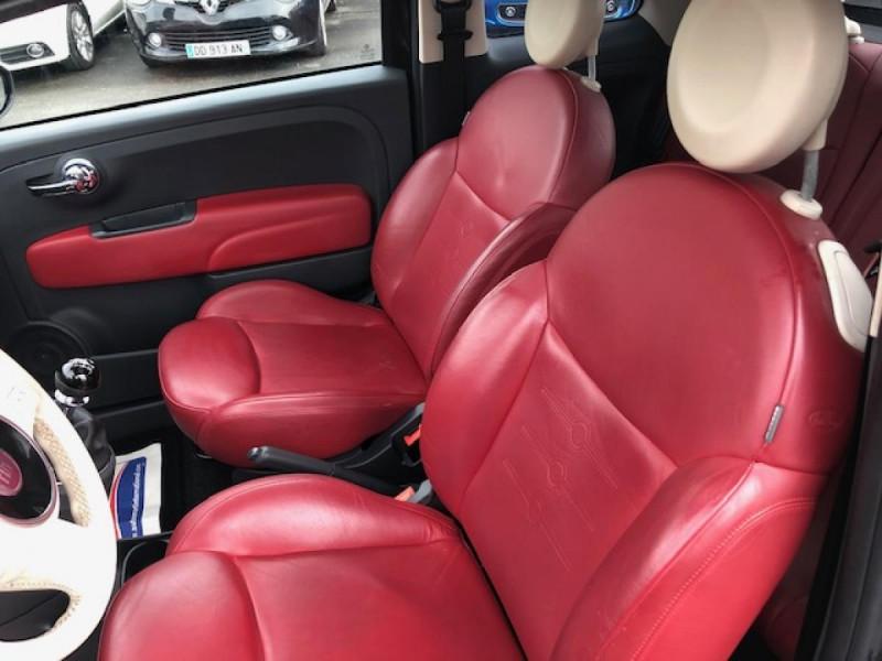 Photo 13 de l'offre de FIAT 500 1.3MJT75 LOUNGE CUIR TOIT OUVRANT CLIM CARNET ENTRETIEN OK à 5490€ chez Triplo auto