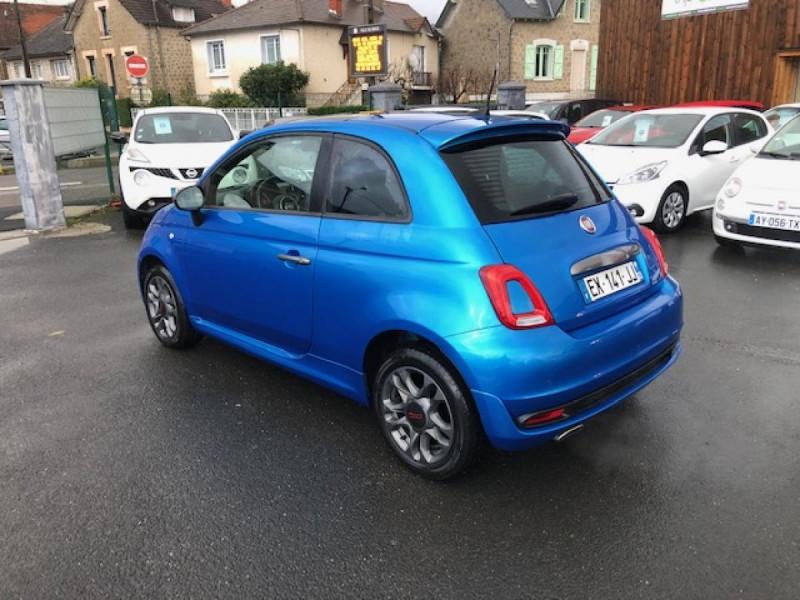 Photo 3 de l'offre de FIAT 500 S 1.2I - 69 CLIM RADAR TOIT UCONNECT à 9850€ chez Triplo auto