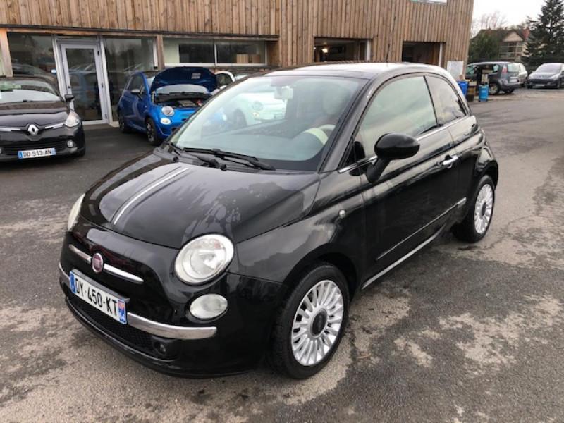 Fiat 500 1.3MJT75 LOUNGE CUIR TOIT OUVRANT CLIM CARNET ENTRETIEN OK Diesel NOIR Occasion à vendre