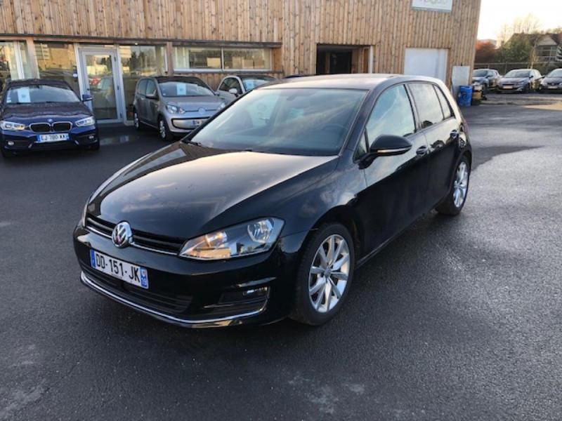 Volkswagen GOLF 1.2 TSI 105 CARAT GPS RADAR AV AR  - BLUEMOTION  Essence NOIR Occasion à vendre