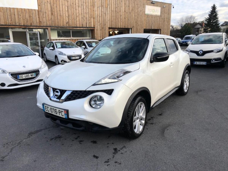 Nissan JUKE 1.2 DIG-T 115 S&S CONNECT EDITION GPS Essence BLANC Occasion à vendre