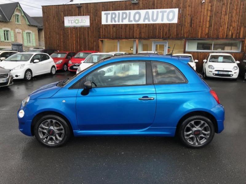 Photo 2 de l'offre de FIAT 500 S 1.2I - 69 CLIM RADAR TOIT UCONNECT à 9850€ chez Triplo auto