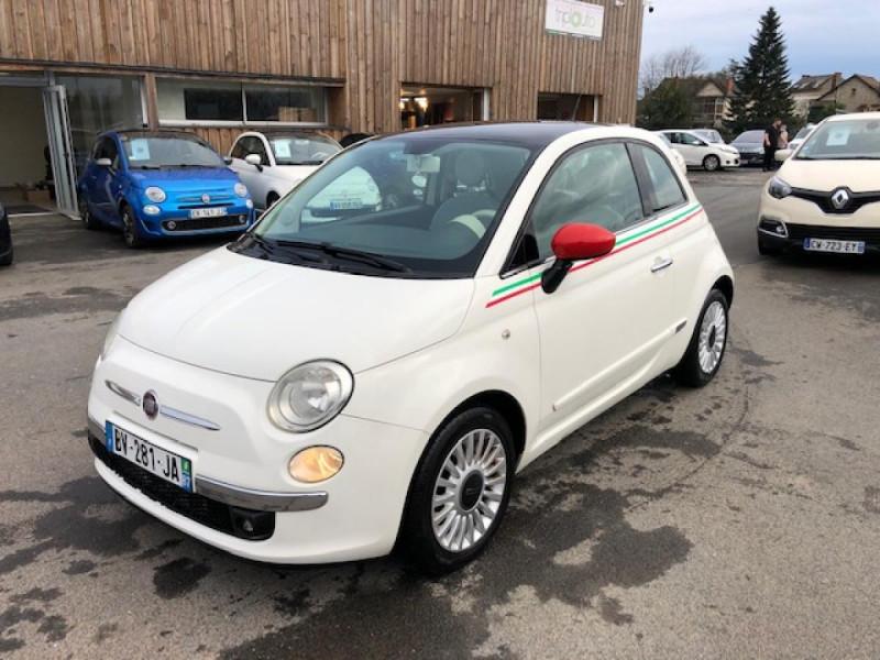 Fiat 500 1.2I-69 LOUNGE CLIM   DISTRI OK Essence BLANC Occasion à vendre