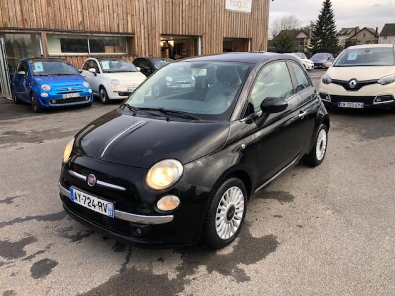 Fiat 500 1.2I 69 LOUNGE CLIM   DISTRI OK   ENTRETIEN OK GAR3MOIS Essence NOIR Occasion à vendre