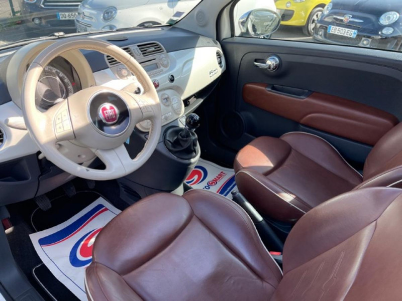 Photo 11 de l'offre de FIAT 500 1.3 MJT 75 LOUNGE CLIM CUIR TOIT OUVRANT à 6250€ chez Triplo auto