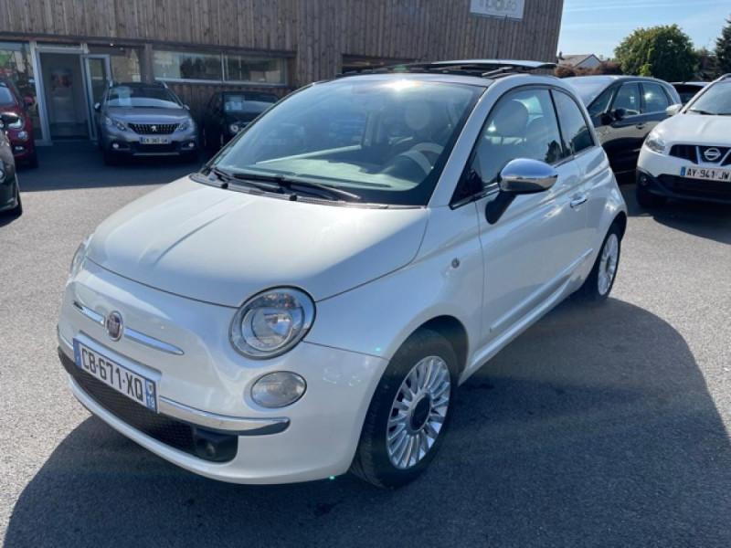 Fiat 500 1.3 MJT 75 LOUNGE CLIM CUIR TOIT OUVRANT Diesel BLANC Occasion à vendre