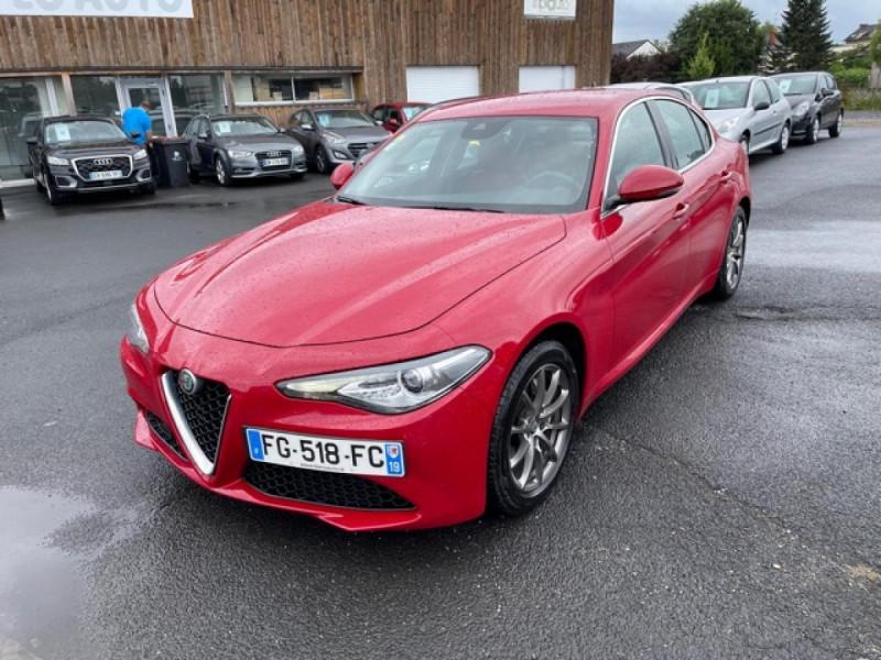 Alfa Romeo GIULIA 2.2 D 136 - BVA SUPER CUIR ROUGE GPS Diesel ROUGE Occasion à vendre