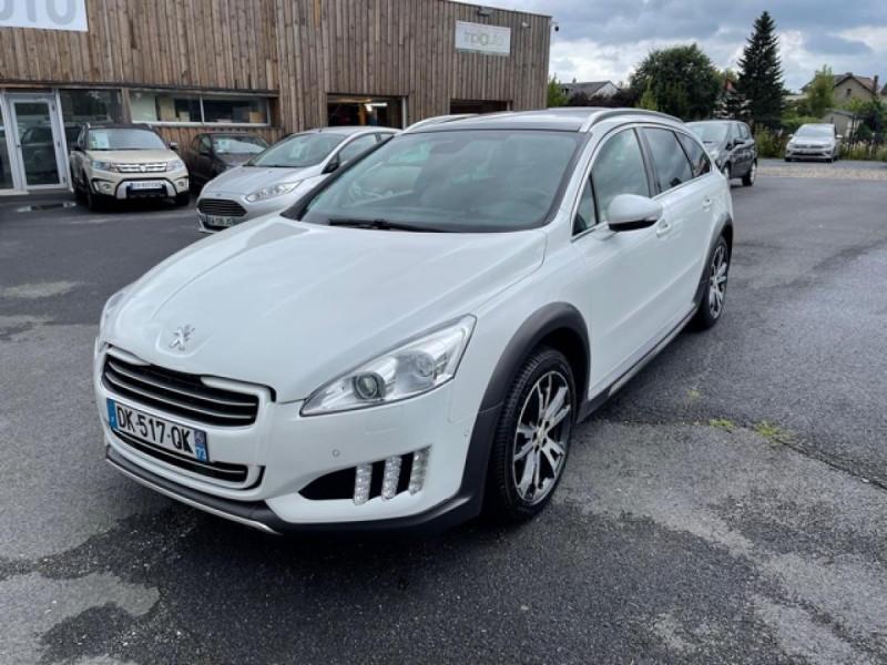 Peugeot 508 RXH 2.0HDI163   ELECTRIQUE 37CH  ETG6 CUIR DISTRI OK ENTRETIEN OK Hybride BLANC Occasion à vendre