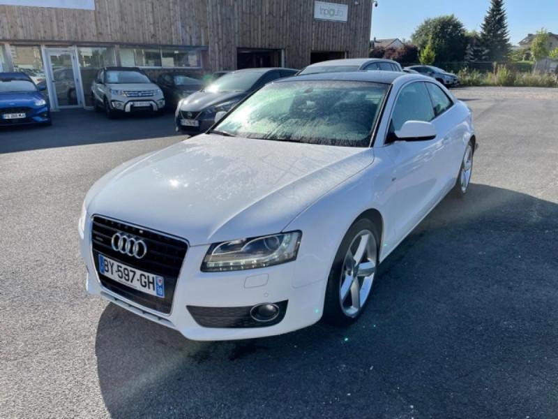 Audi A5 QUATTRO 3.0 V6 TDI 240 S-TRONIC 7 S LINE CUIR Diesel BLANC Occasion à vendre