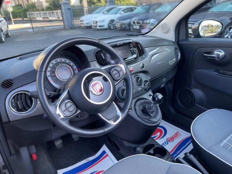 Photo 13 de l'offre de FIAT 500 CABRIOLET 1.2I - 69 LOUNGE CLIM à 12490€ chez Triplo auto