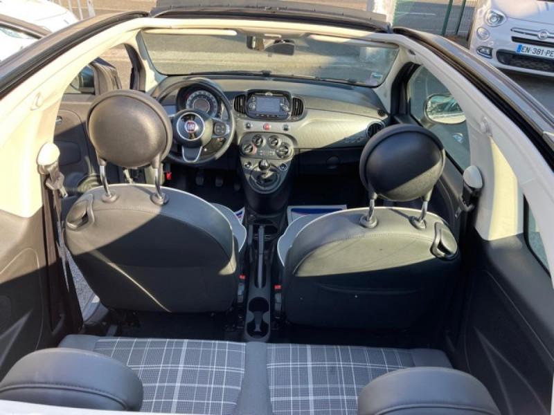 Photo 5 de l'offre de FIAT 500 CABRIOLET 1.2I - 69 LOUNGE CLIM à 12490€ chez Triplo auto