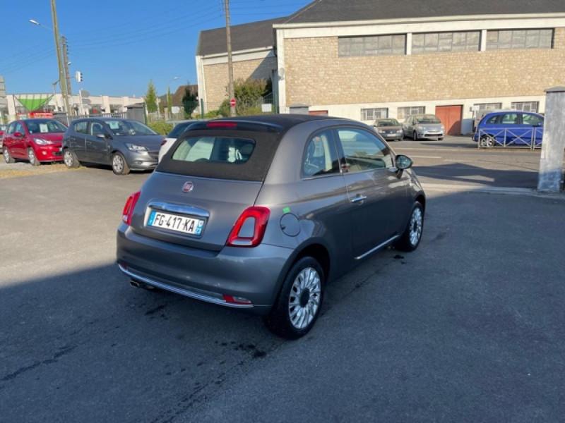 Photo 6 de l'offre de FIAT 500 CABRIOLET 1.2I - 69 LOUNGE CLIM à 12490€ chez Triplo auto
