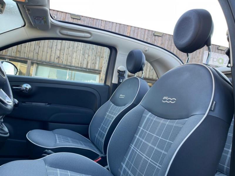 Photo 14 de l'offre de FIAT 500 CABRIOLET 1.2I - 69 LOUNGE CLIM à 12490€ chez Triplo auto