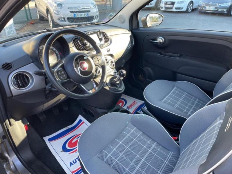 Photo 10 de l'offre de FIAT 500 CABRIOLET 1.2I - 69 LOUNGE CLIM à 12490€ chez Triplo auto