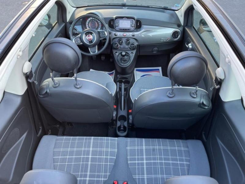 Photo 17 de l'offre de FIAT 500 CABRIOLET 1.2I - 69 LOUNGE CLIM à 12490€ chez Triplo auto