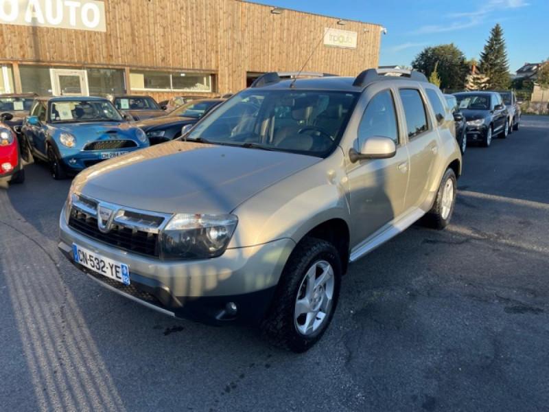 Dacia DUSTER 1.6 16V - 105 4X4 PRESTIGE CLIM CUIR Essence BEIGE Occasion à vendre