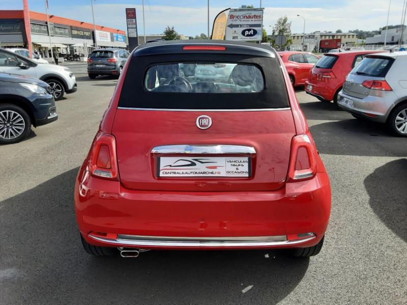 Photo 3 de l'offre de FIAT 500 C 1.2 69 ch Lounge  à 12990€ chez Centrale Auto Marché Mussidan